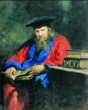 Портрет Д.И. Менделеева работы И. Е. Репина 1885 г.